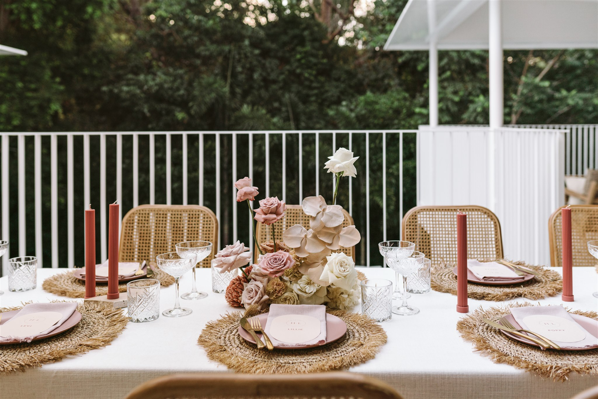 wedding reception styling and flowers