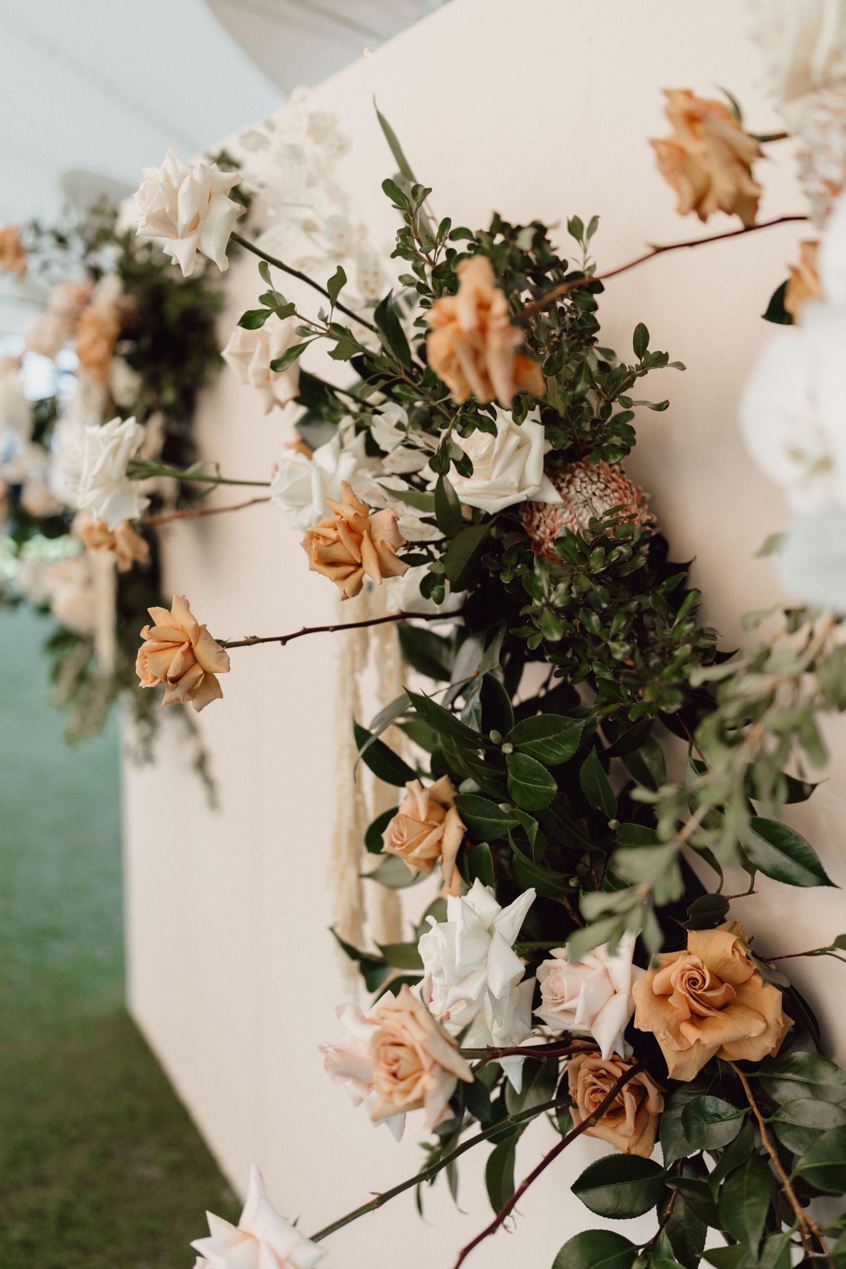 Flower Wall Wedding Reception
