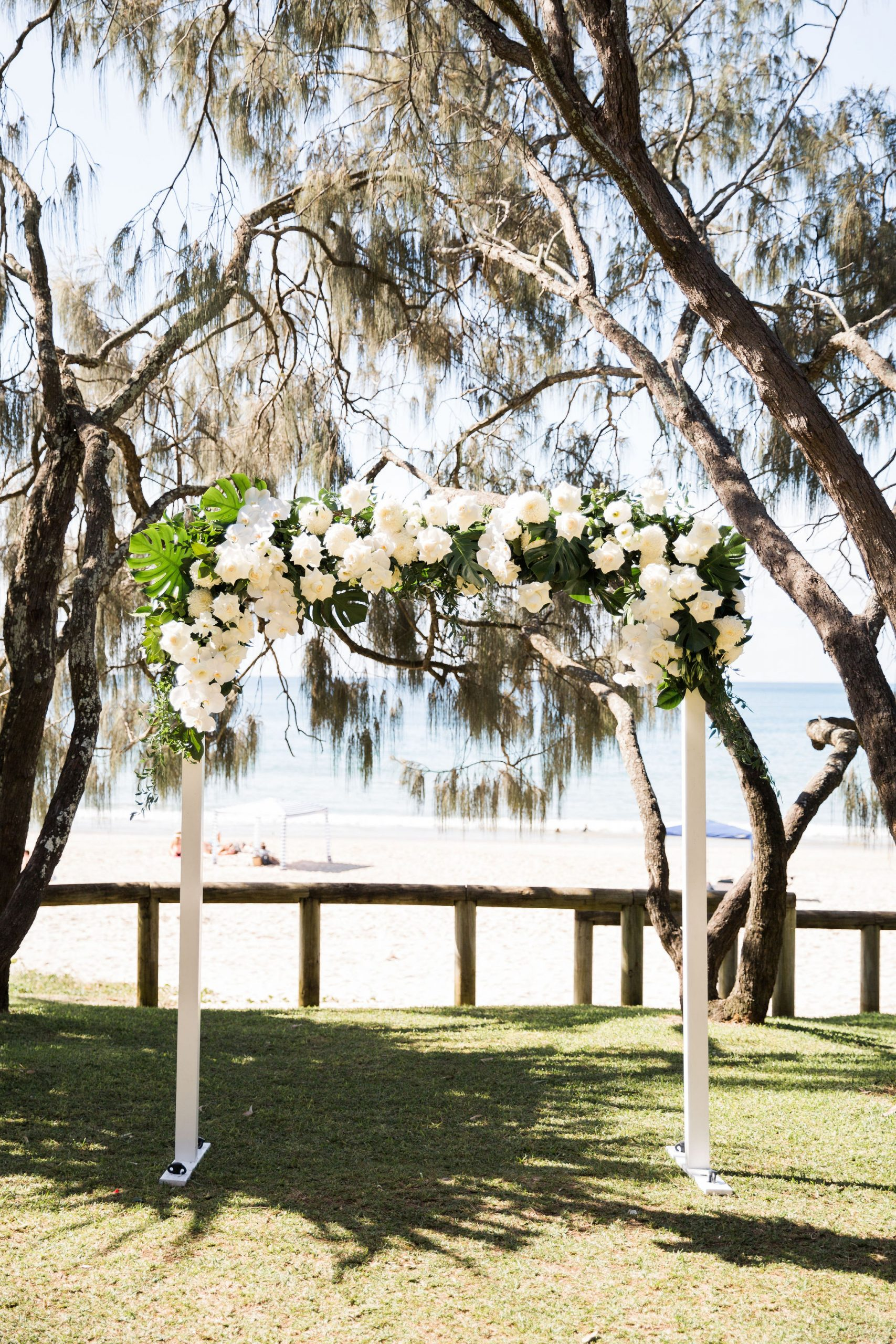Orchid and Rose Coastal Wedding