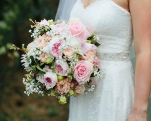 David Austin rose bridal bouquet