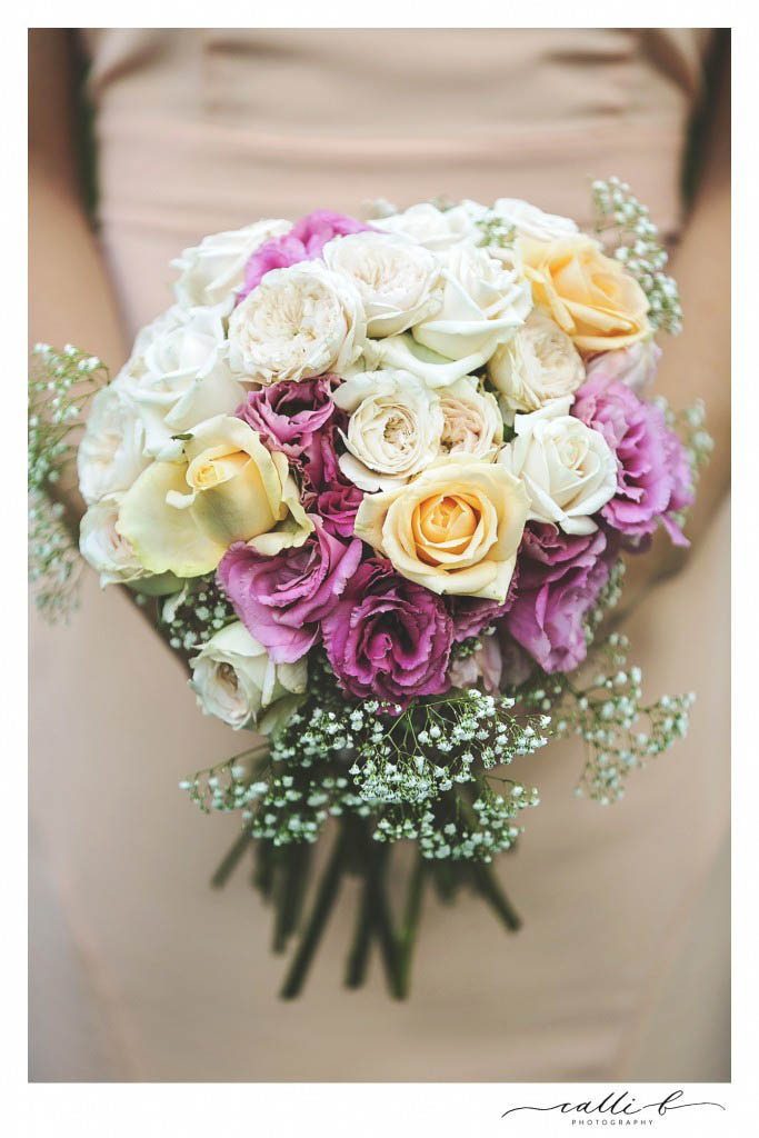 Bridal bouquet featuring David Austin roses