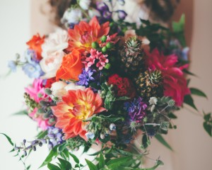 Bright Boho wedding bouquet