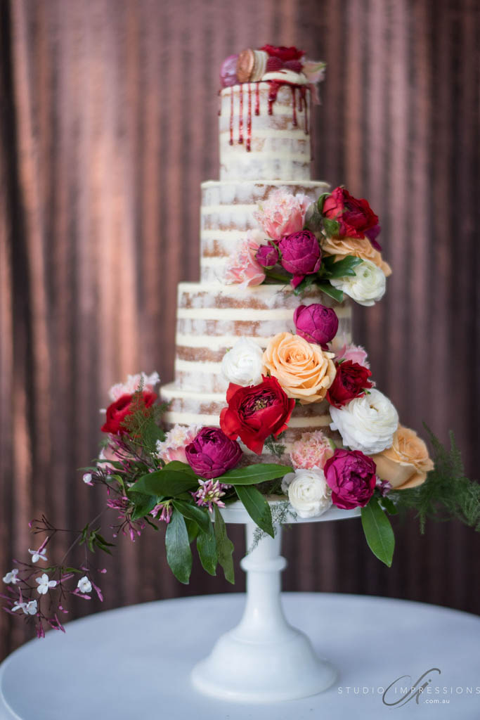 Semi Naked Cake By Designs With Flowers