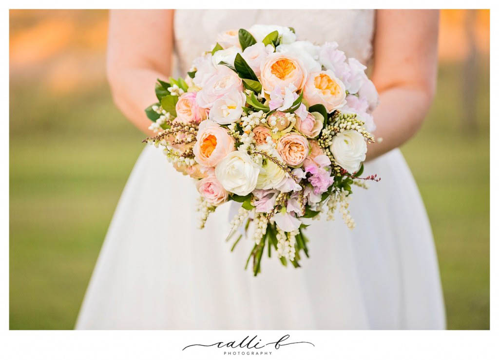 pastel wedding bouquet with andromeda