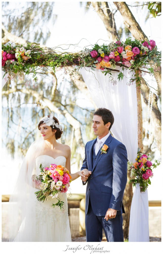bright floral canopy