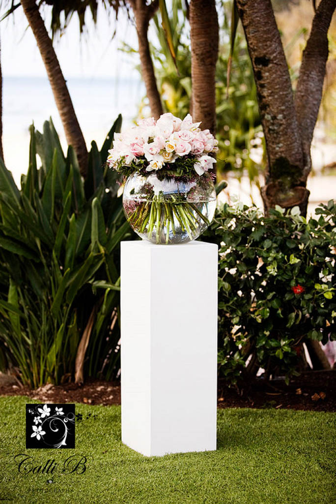 Ceremony Canopy Florals With Greenery Garlands