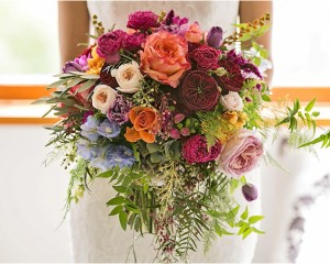 Whimsical bouquet with roses