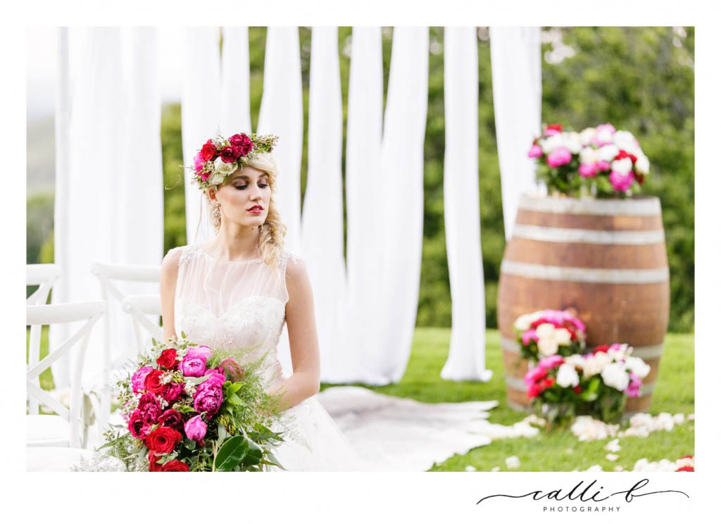 Whimsical cascading bouquet
