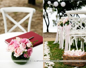 Registry design and chair posies.