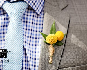 Cute Billy Button buttonhole.