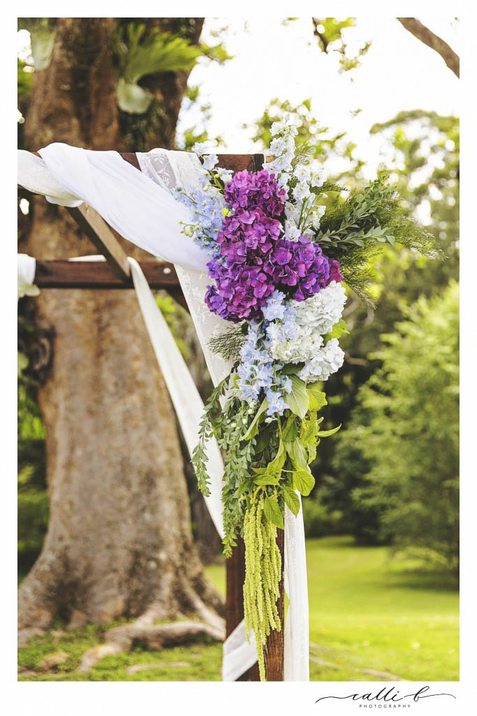 Canopy florals featuring hydrangea