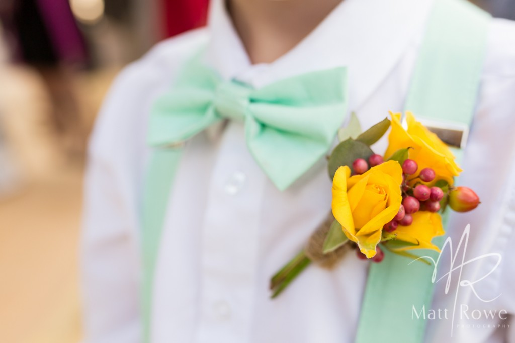 Buttonhole with yellow roses