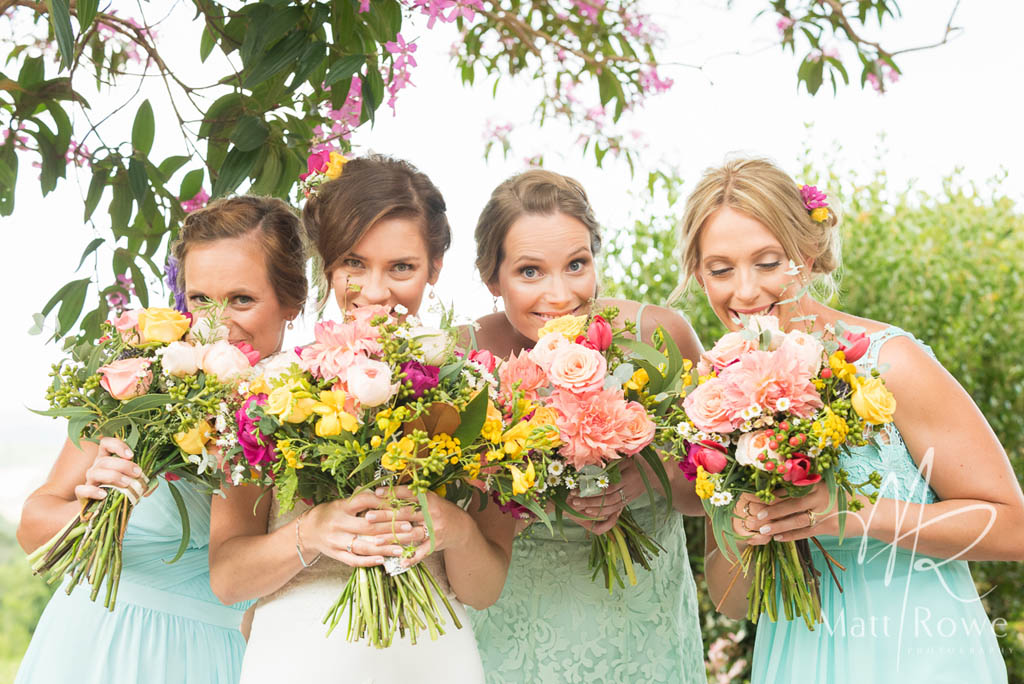 Bright Gardenesque Wedding Bouquets