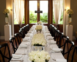 Stunning tables set-up with troughs and chalices.