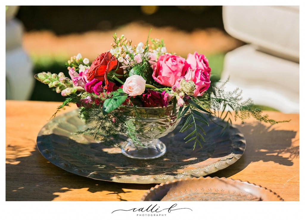 Crystal vase featuring roses