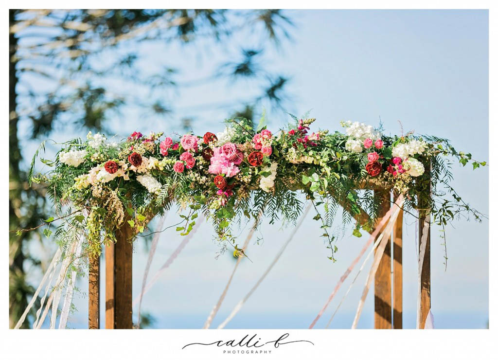 Canopy flowers with whimsical foliage