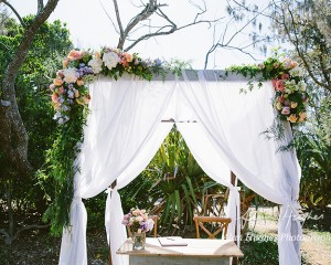 Floral Canopy Swag Noosa