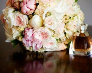 Bouquet of peonies and David Austin roses - Image Melissa Jean Photography