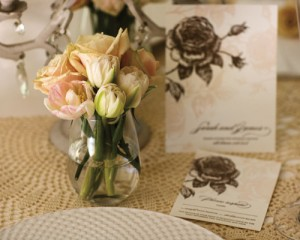 In combination with our floral designs we sourced the beautiful table wear accessories from Giddy and Grace and the stationery from Bespoke Letterpress.