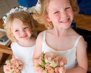 Natalie Page Photography – Petite posies of pale pink Miniature Roses and Double Tulips