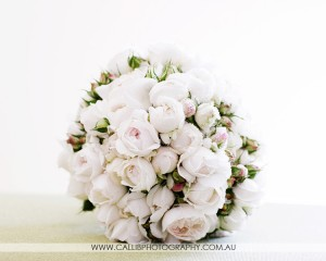 Elegant posy of David Austin roses