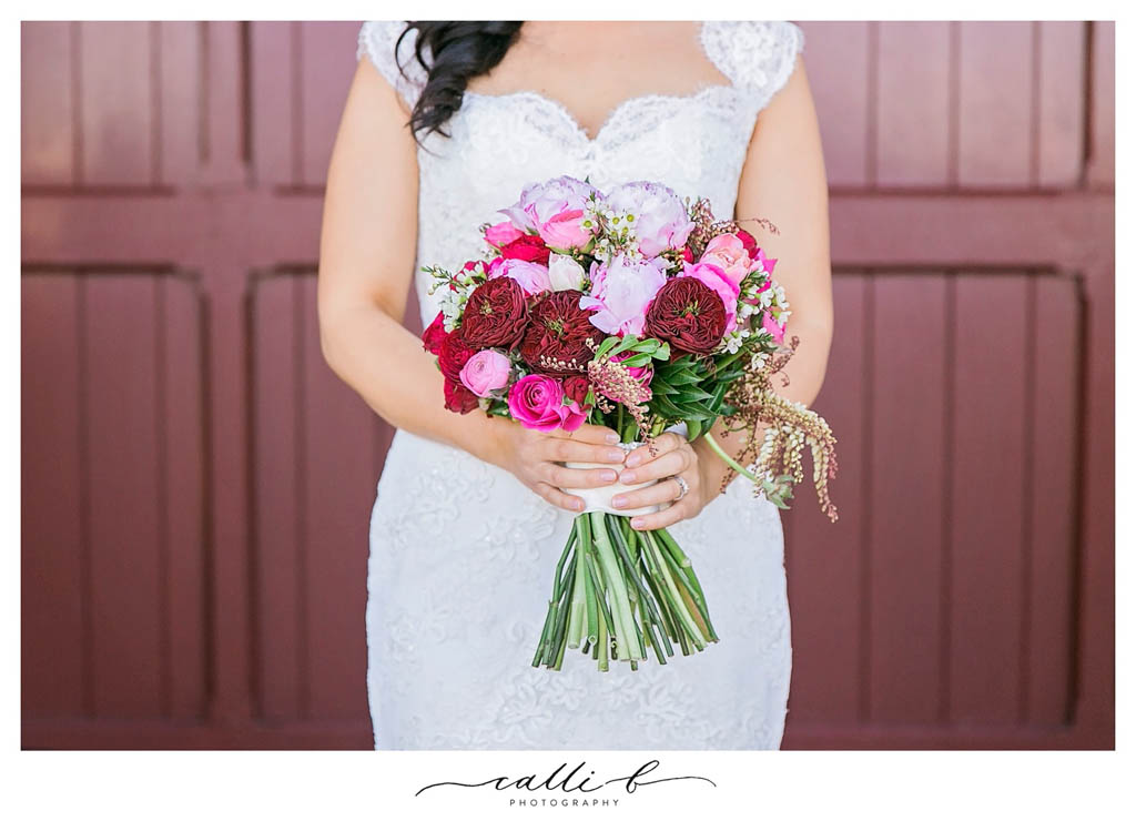 Bright Wedding Bouquet Featuring Peonies